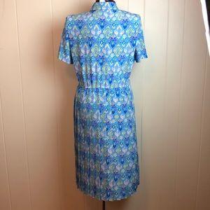 """Vintage Dresses - Vintage 70s/80s Blue Purple """"Secretary"""" Dress"""